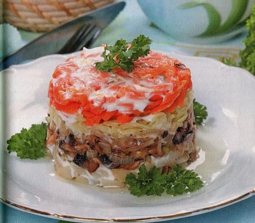 Рецепт салата лисья шубка с селедкой