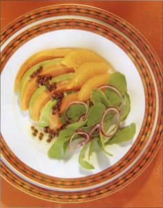 Салат из авокадо и папайи