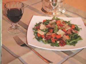 Салат из тыквы с рукколой