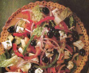 Турецкий салат с сыром фета
